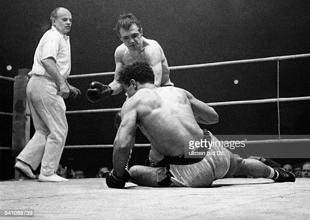 Scholz Gustav 'Bubi' *Boxer D Sieg gegen Alex Buxton 1955
