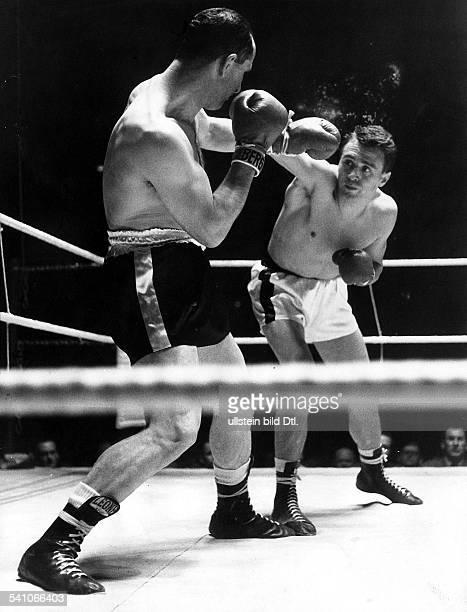 Scholz Gustav 'Bubi' *Boxer D Sieg gegen den Italiener Calzavara 1959