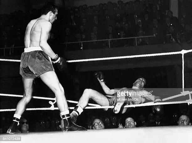 Scholz Gustav 'Bubi' *Boxer D Sieg gegen Francesco Frances 1957