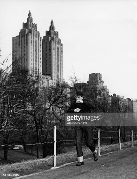 Scholz Gustav 'Bubi' *Boxer D Trainingslauf im Central Park NY 1954
