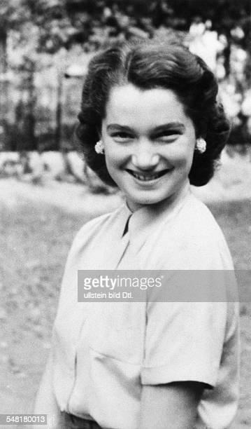 Scholz Helga 1935 Ehefrau des Boxers Gustav 'Bubi 'Scholz im Alter von 14 Jahren