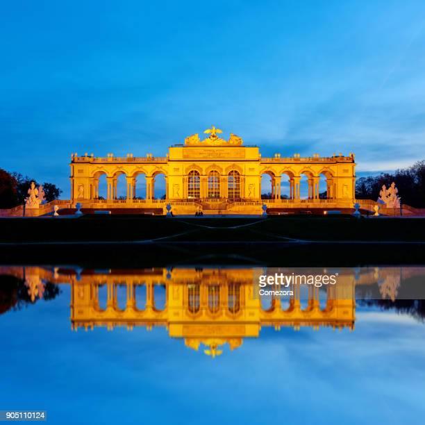 Schonbrunn Palace at Sunset, Vienna, Austria