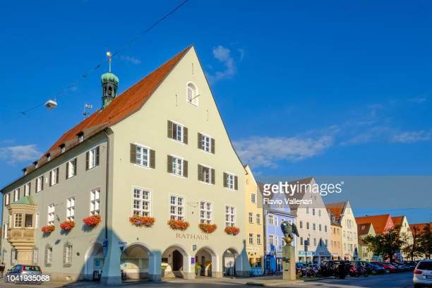 altstadt schongau (bayern, deutschland) - rathaus stock-fotos und bilder