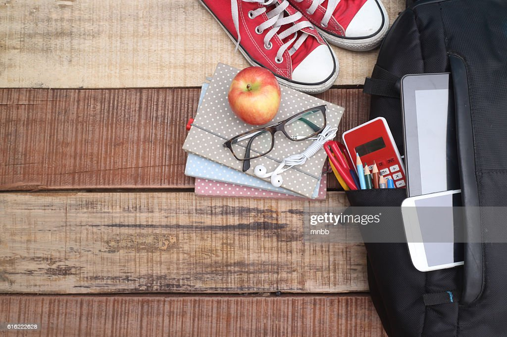 School, bag, backpack. : Stock Photo