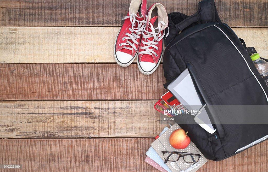 School, le sac à dos. : Photo
