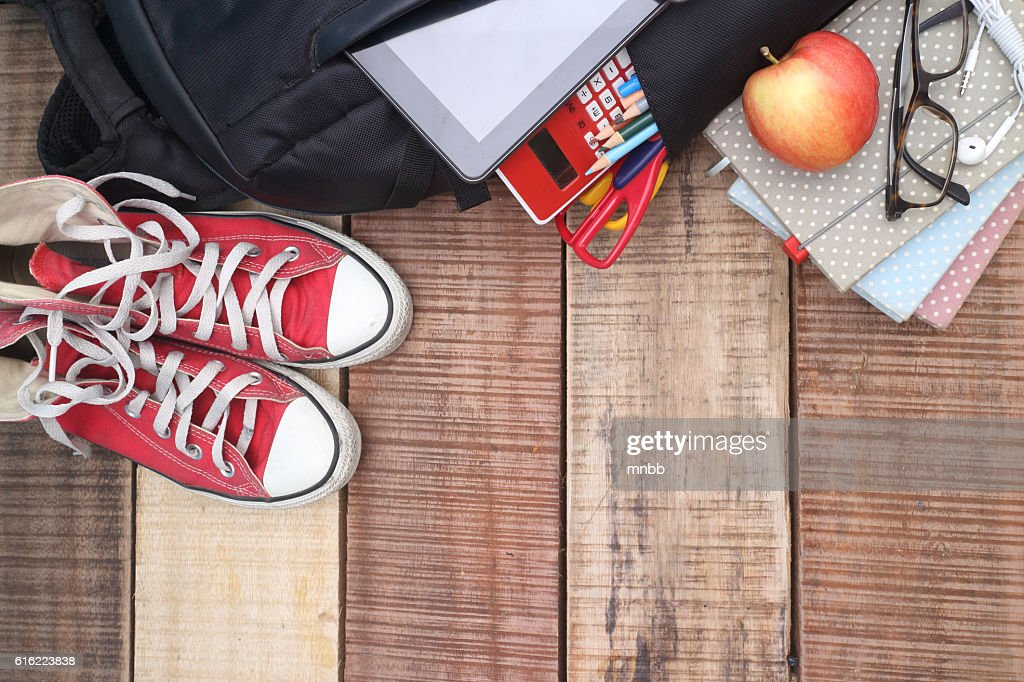 School, bag, backpack. : Stockfoto