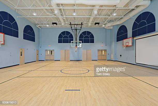 School basketball court