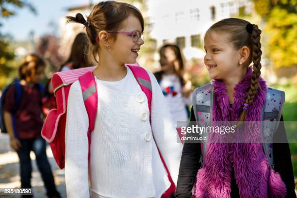 school best friends - children only stock pictures, royalty-free photos & images