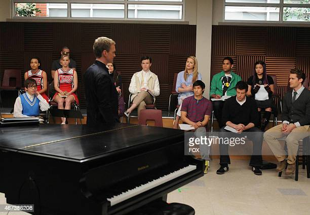 """School board member Bryan Ryan addresses Will and the glee club in the """"Dream On"""" episode of GLEE airing Tuesday, May 18 on FOX. ©2010 Fox..."""