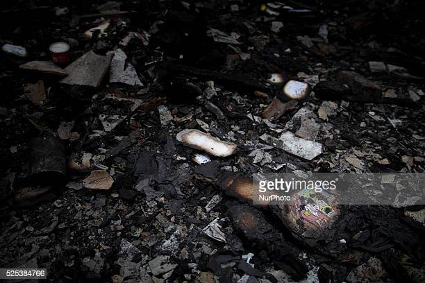 School book that burned at the burn houses site After big fire hit the slum area in GandariaSouth Jakarta victim of the houses have not visitted by...