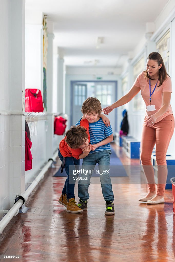 School Boys Being Disobedient : Stock Photo