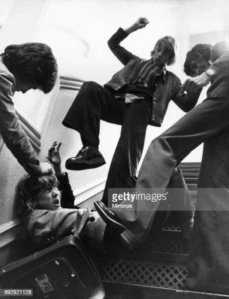 School bullies 7th February 1975 Posed image for Daily Mirror feature on violence in schools