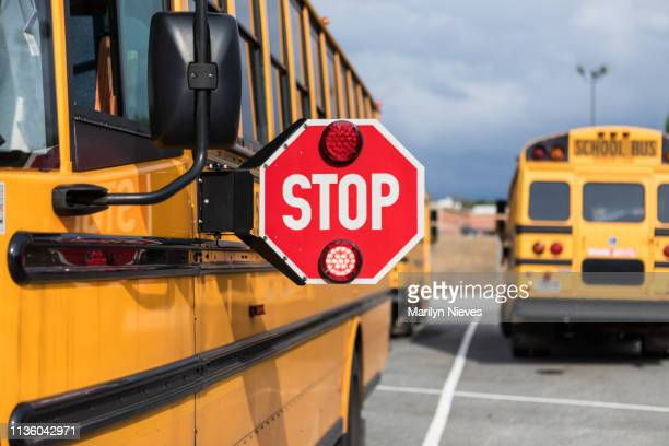 school bus driver doing safety check - school bus stock pictures, royalty-free photos & images