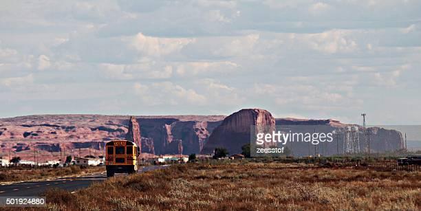 School Bus Headed For Rock Point, AZ