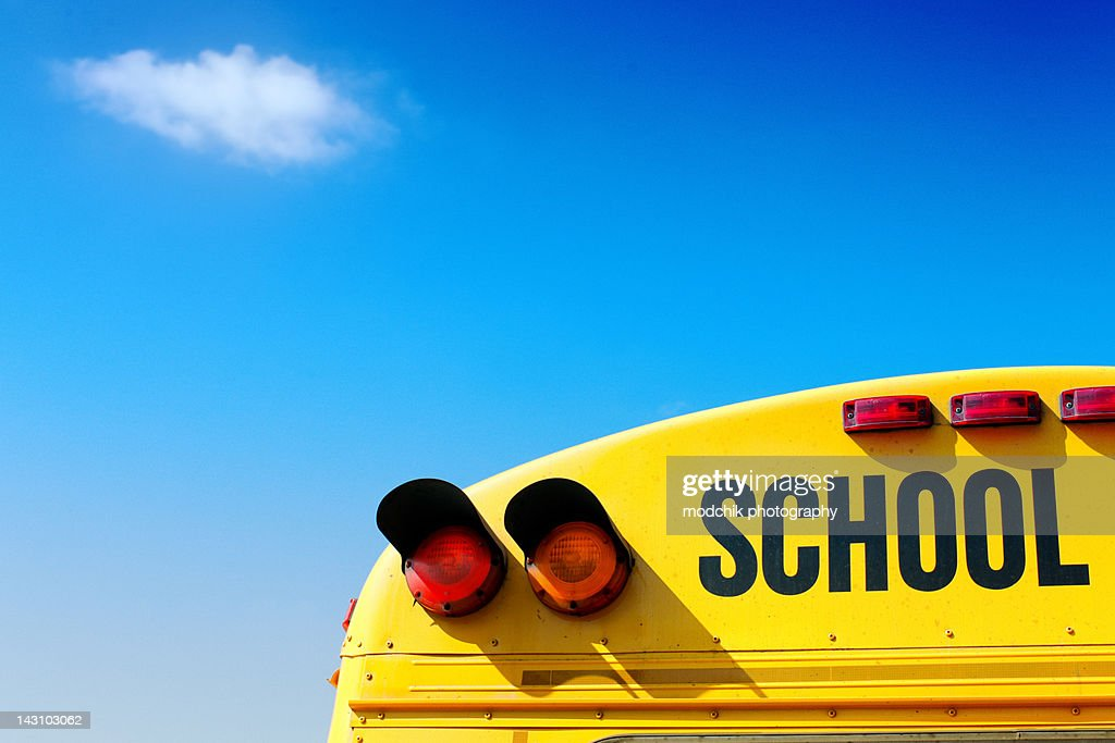 School bus in technicolor : Stock Photo