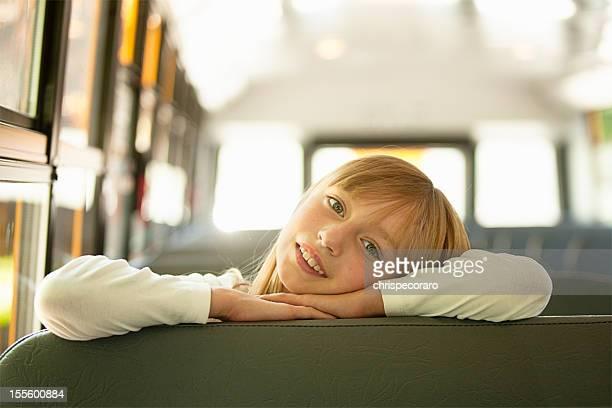 Autobús de colegio retrato