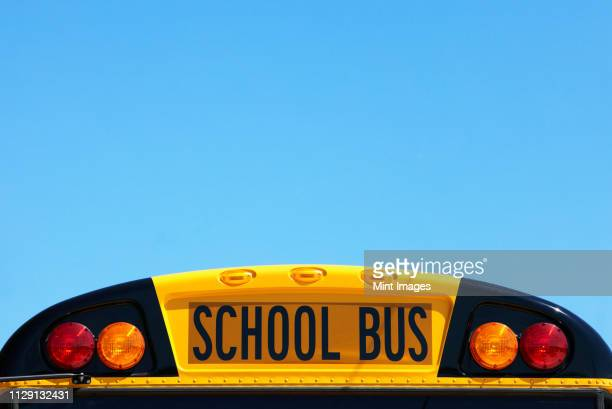 school bus rooftop - school bus stock pictures, royalty-free photos & images