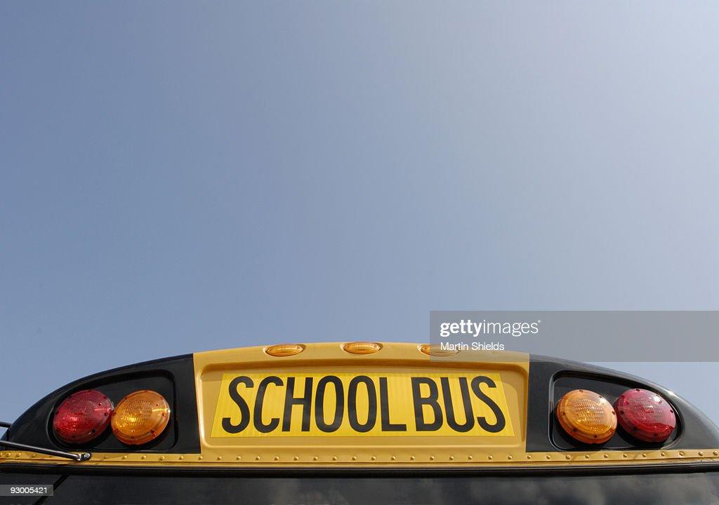 School bus with blue sky : Stock Photo