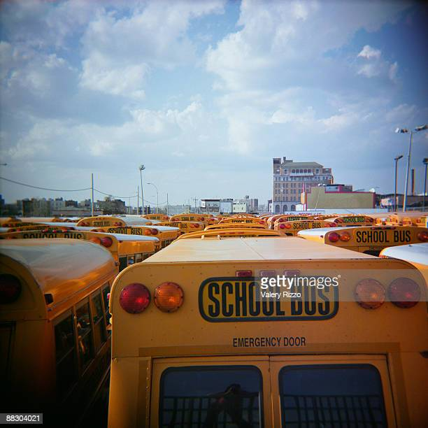 School bus yard, New York
