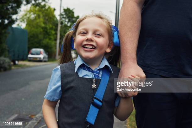 school child getting ready for school - school child stock pictures, royalty-free photos & images