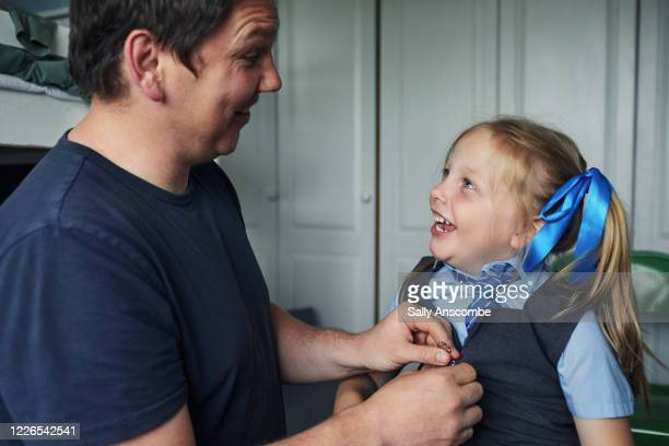 school child getting ready for school - leanincollection stock pictures, royalty-free photos & images