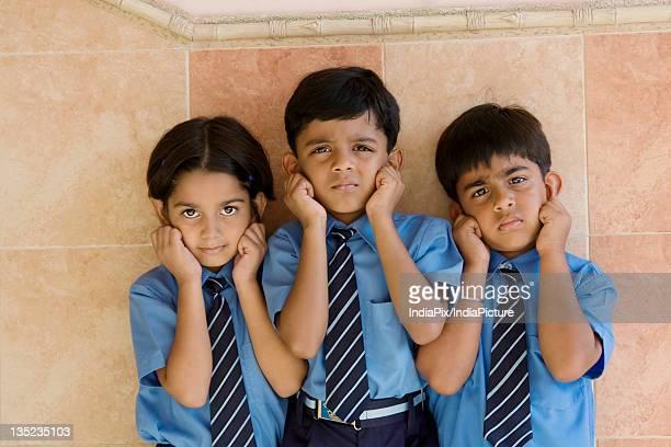 School children being punished