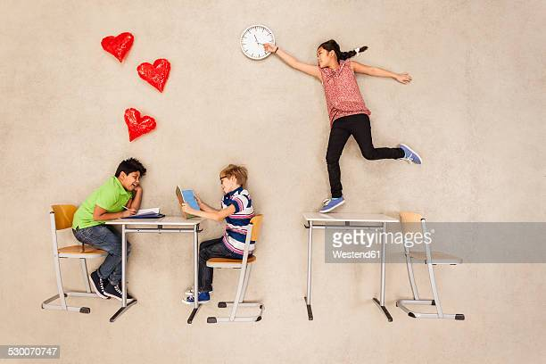 School children having a crush on each other