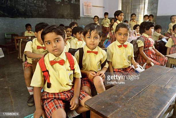 School children in a classroom India