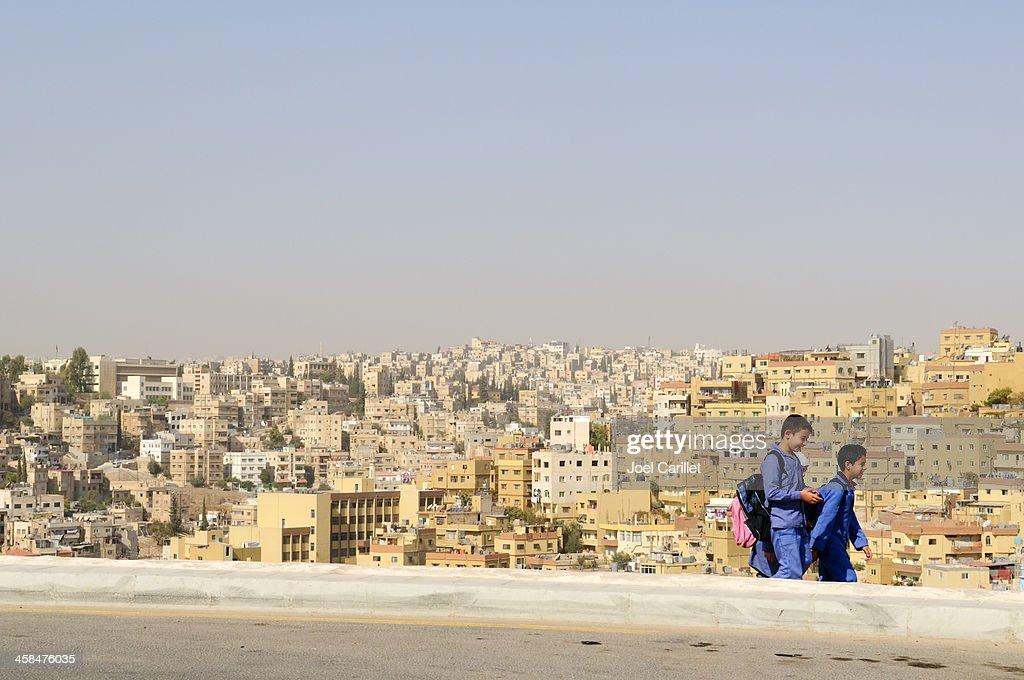 School children in Jordan : Stock Photo