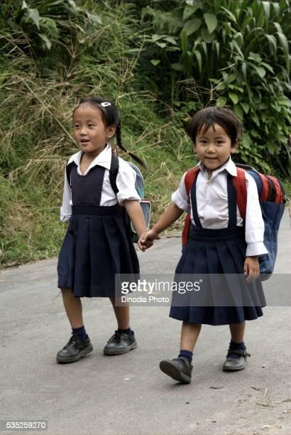 School children in Pastanga, Sikkim, India.