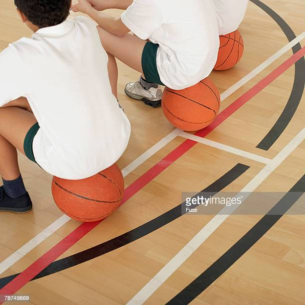 school children in physical education class - boys bare bum stock photos and pictures