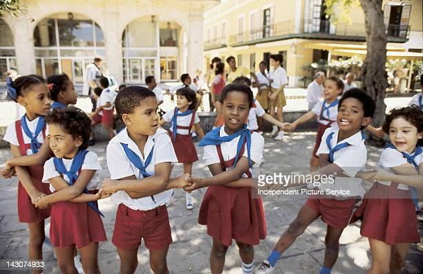 School Children Old Havana Square Cuba
