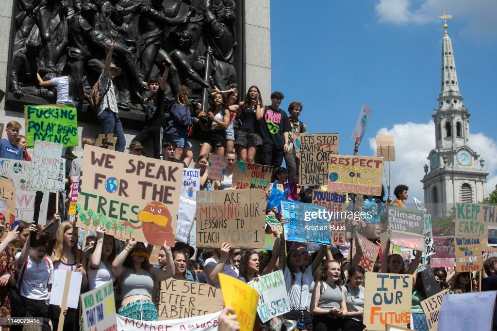 Youth Strike For The Climate In Central London : News Photo