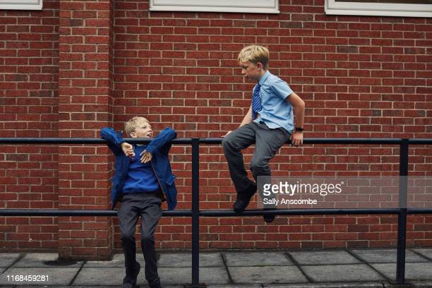 school children - north west england stock pictures, royalty-free photos & images