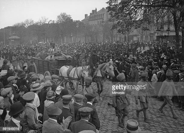School children seen here following the soldiers of the 3rd Lahore Indian Division through the streets of Orleans September 24th 1914