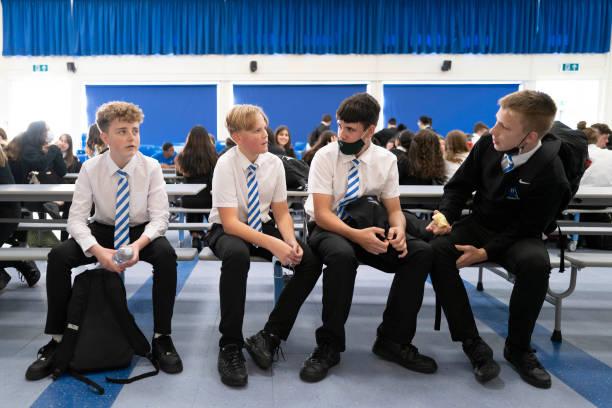 GBR: Llanishen High School Children Settle In To The New School Year
