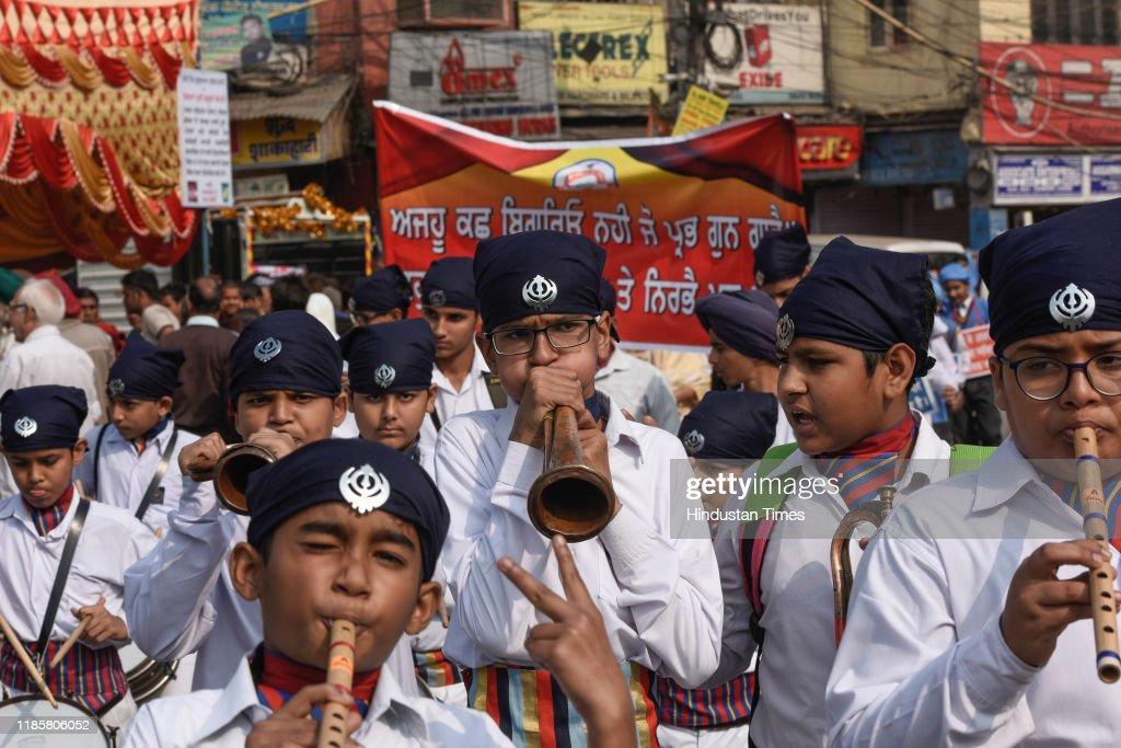 Nagar Kirtan Procession On The Occasion Of Shahidi Gurpurab Of Sri Guru Teg Bahadur Sahib : News Photo