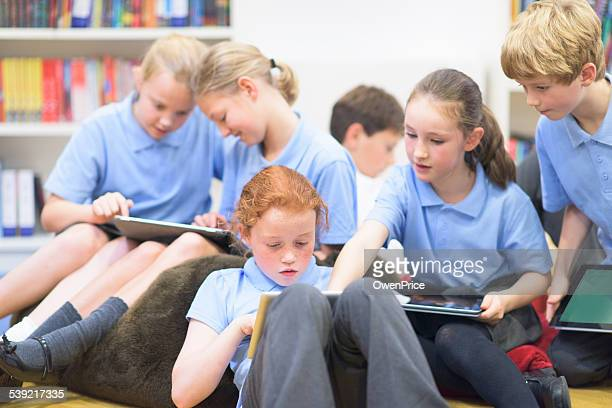 UK School children using technolgy