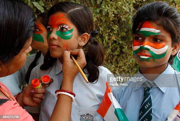 48 India Independence Face Painting Photos And Premium High Res Pictures Getty Images