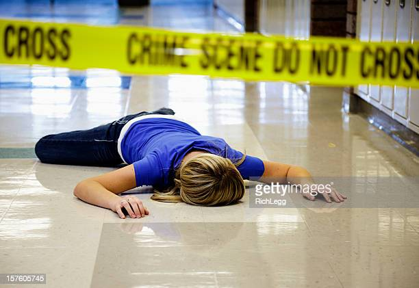 school crime scene - more dead cops stock pictures, royalty-free photos & images
