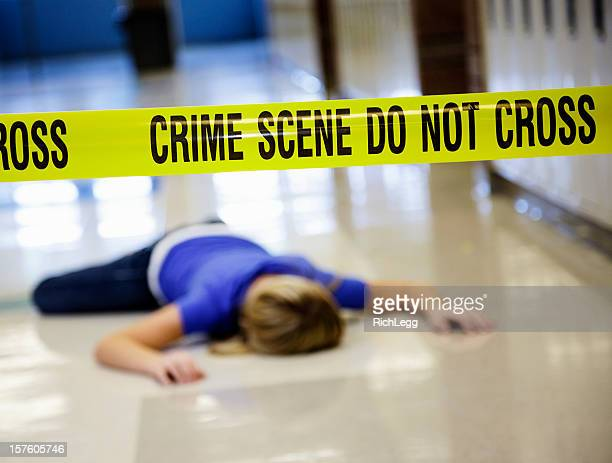 school crime scene - murdered women stock pictures, royalty-free photos & images