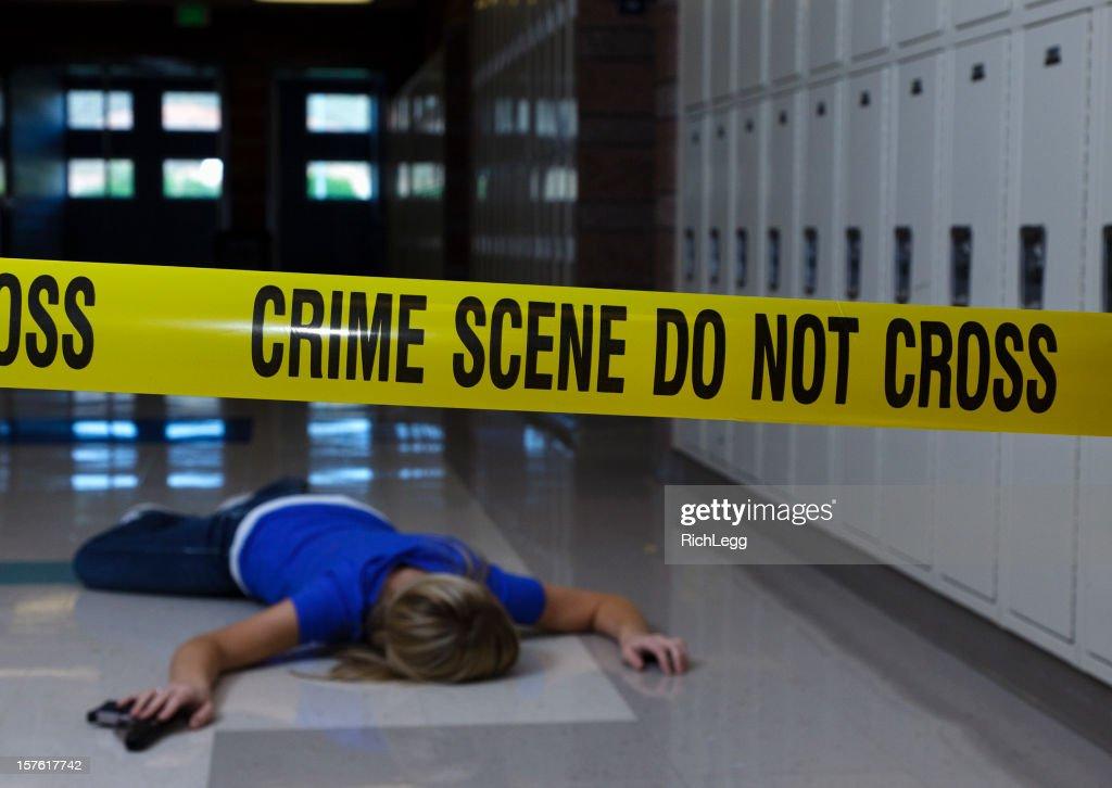 School Crime Scene : Stock Photo