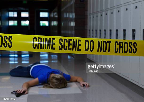 school crime scene - dead girl stock pictures, royalty-free photos & images