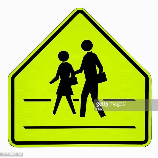 School crossing road sign