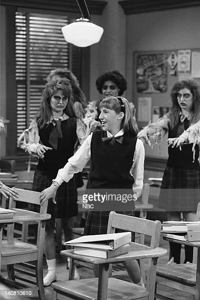 BLOSSOM School Daze Episode 11 Aired Pictured Mayim Bialik as Blossom Russo Photo by Alice S Hall/NBCU Photo Bank