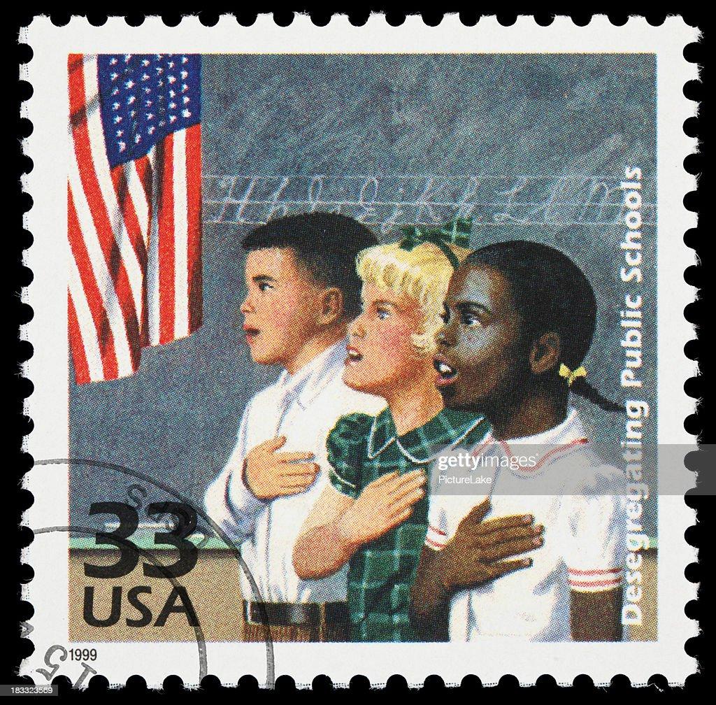 School desegregation postage stamp : Stock Photo