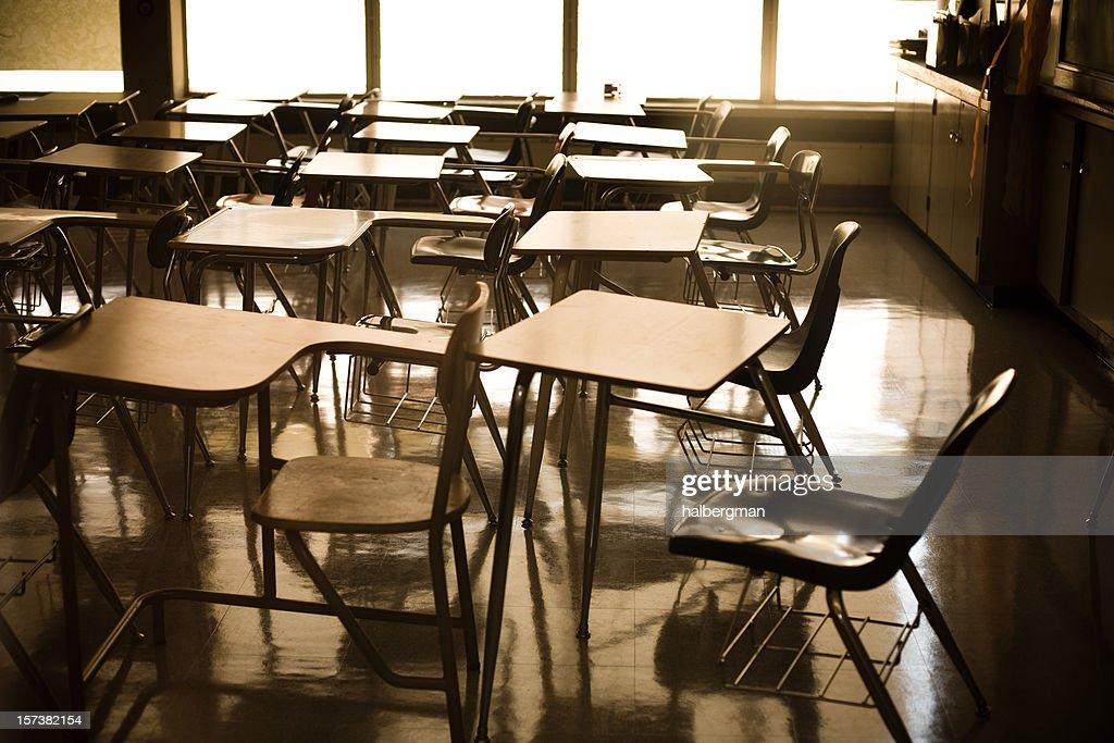 School Desks : Stock Photo