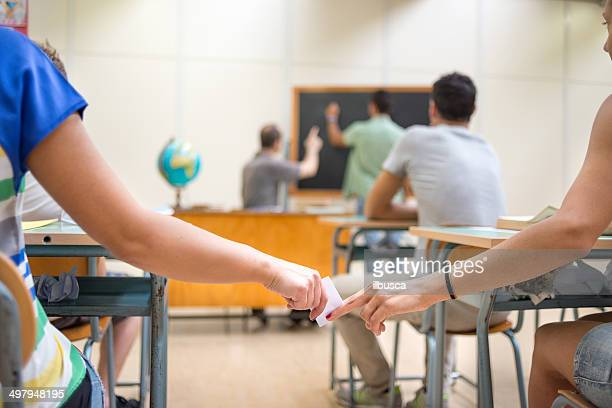 School education scene: passing information note