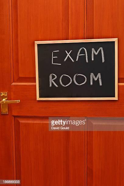 School examination room door sign