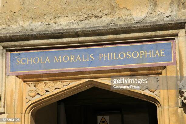 School for Moral Philosophy Latin 'Schola Moralis Philosophiae' Bodleian Library University of Oxford England UK